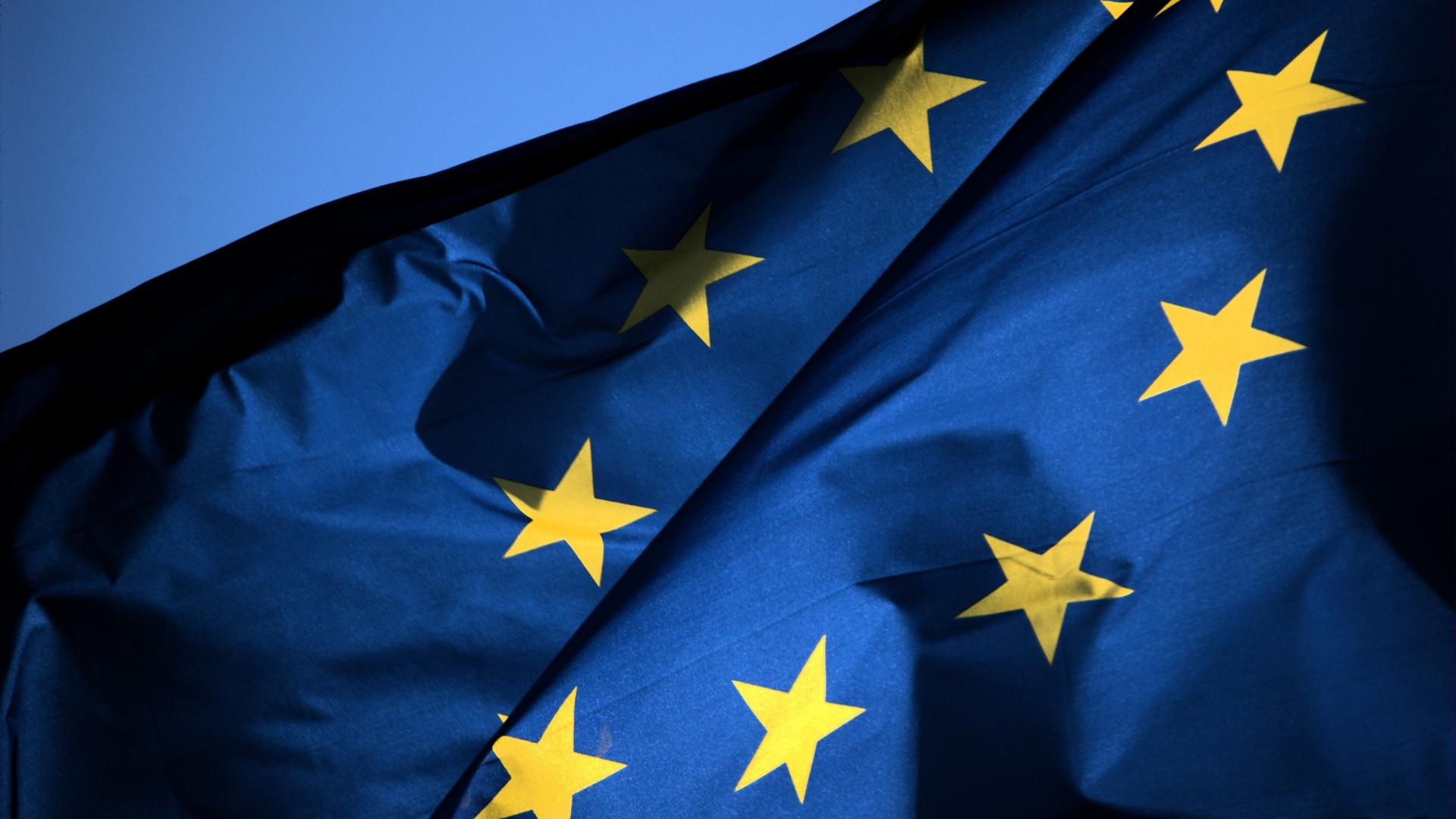 EU Flag-Blue Background