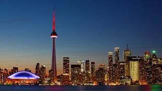 Toronto evening skyline