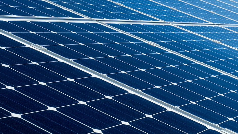 Image of a solar panel in sunlight