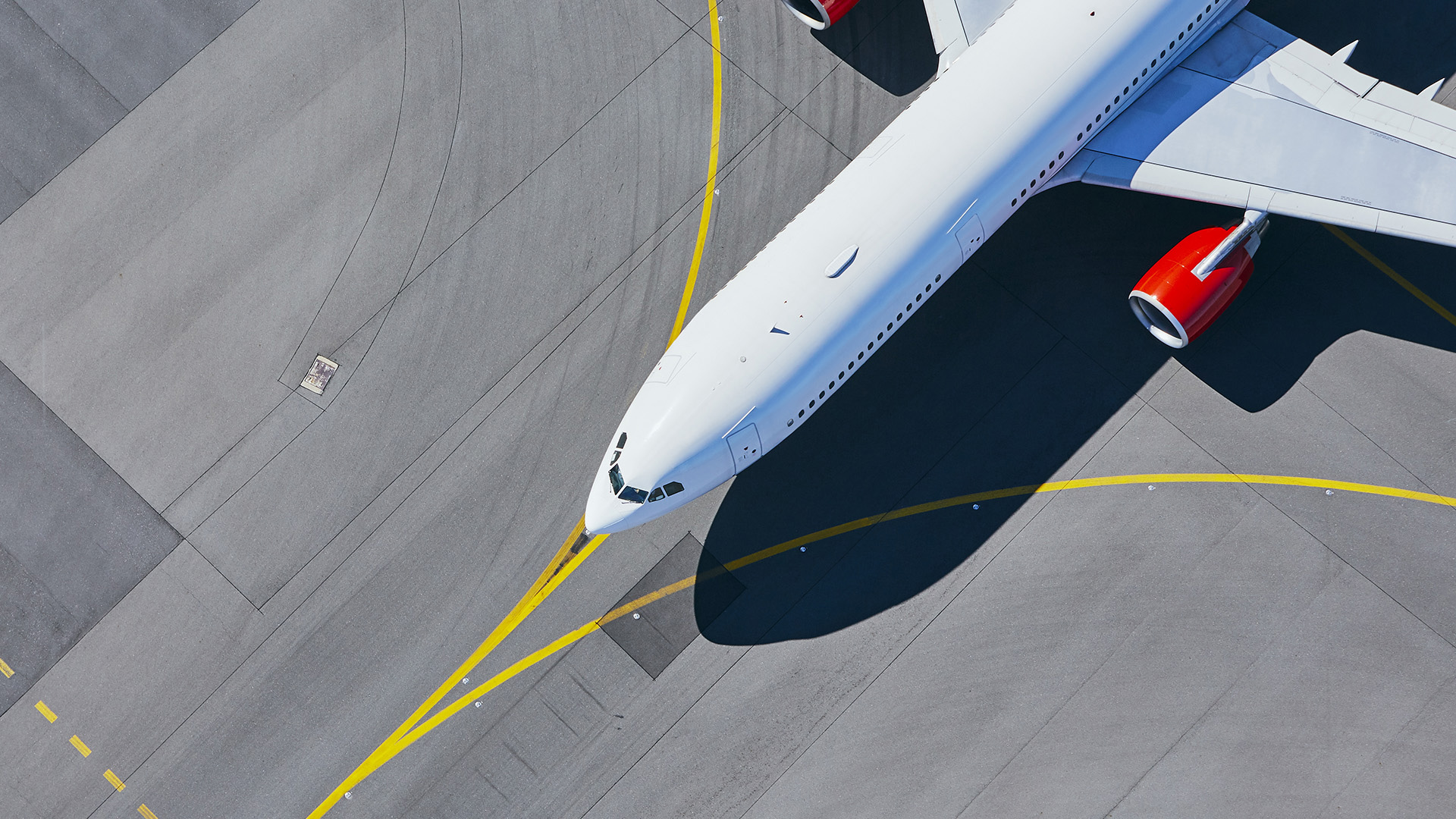 Image of aircraft on the runway