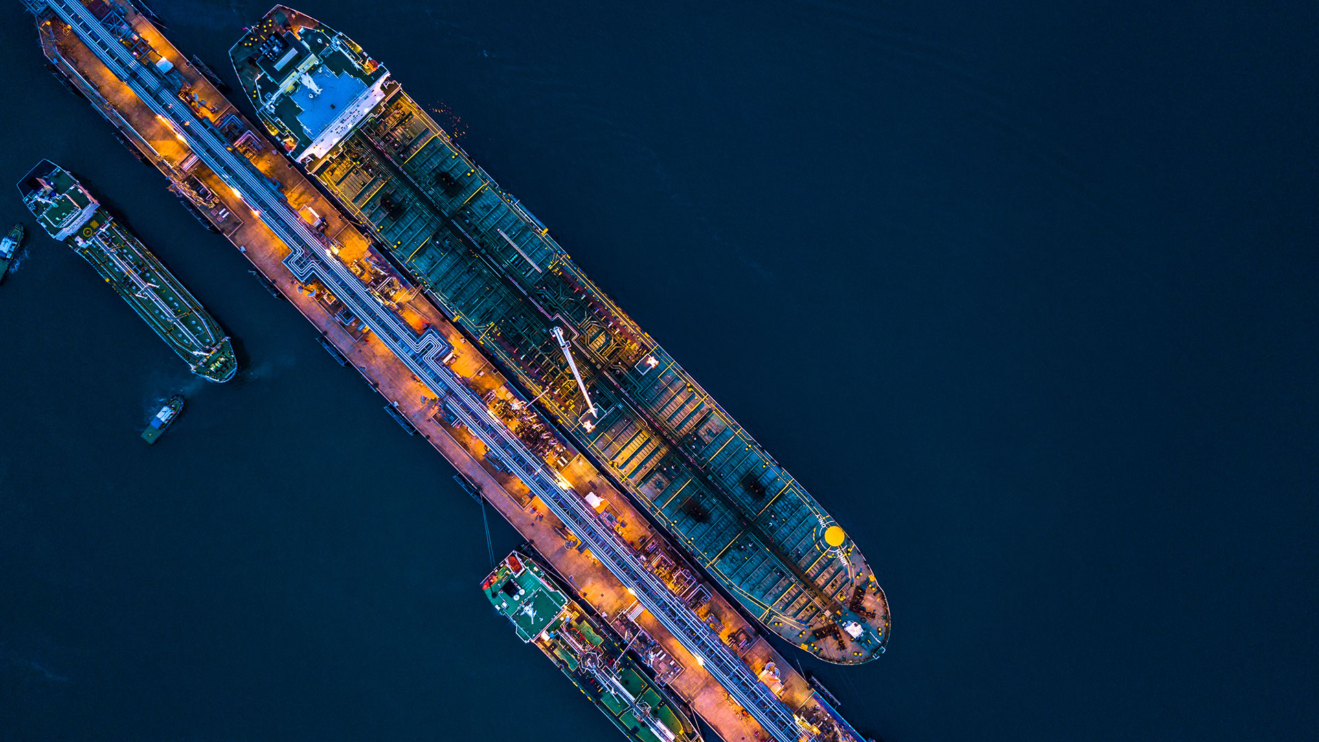 Ship overhead night