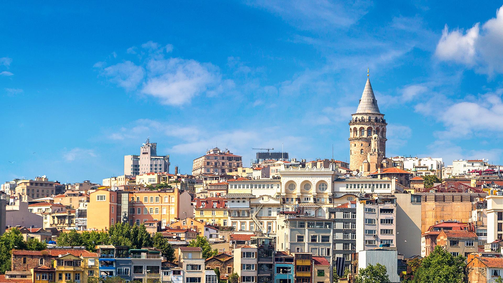 Turkish city skyline