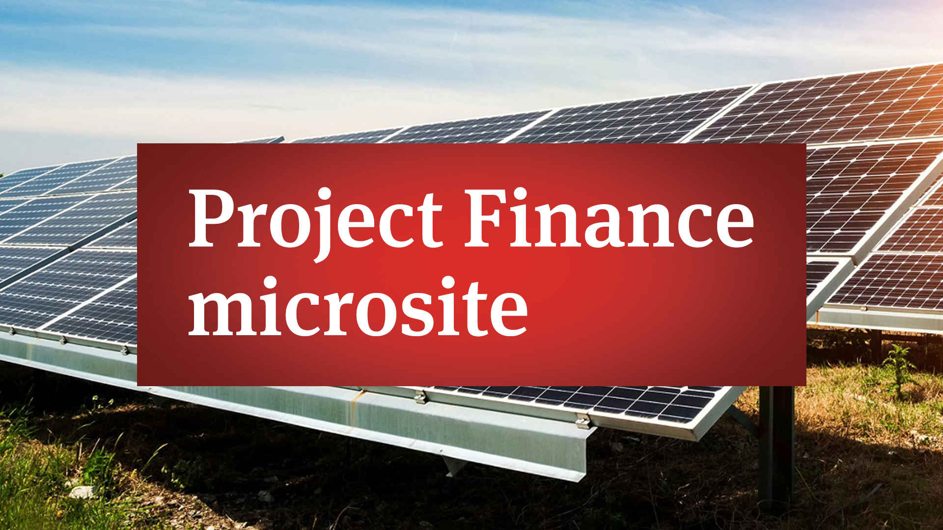 Project Finance microsite