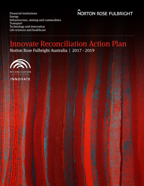 Front cover of NRF Reconciliation Action Plan 2017-2019