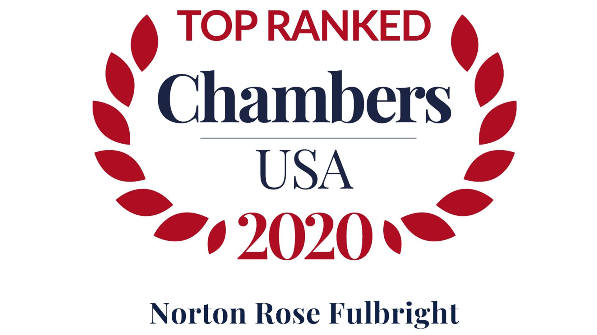 Top ranked Chambers USA 2020