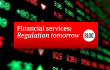 Financial services: Regulation tomorrow