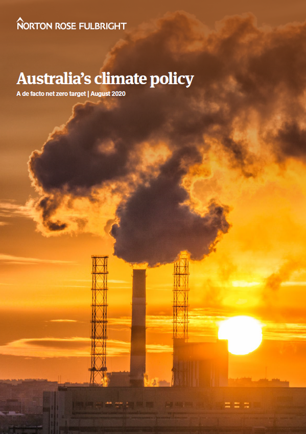 Cover page - Australia's climate policy 2020