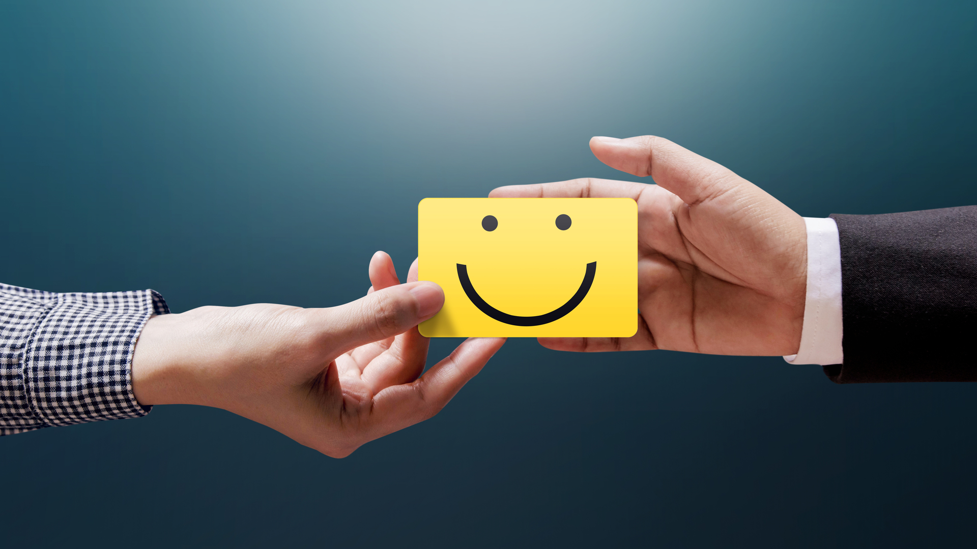 Yellow smiley card