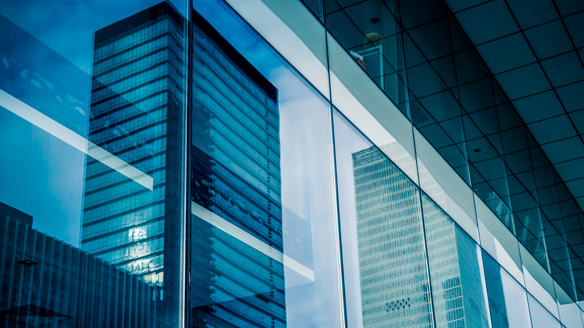 abstract building blue