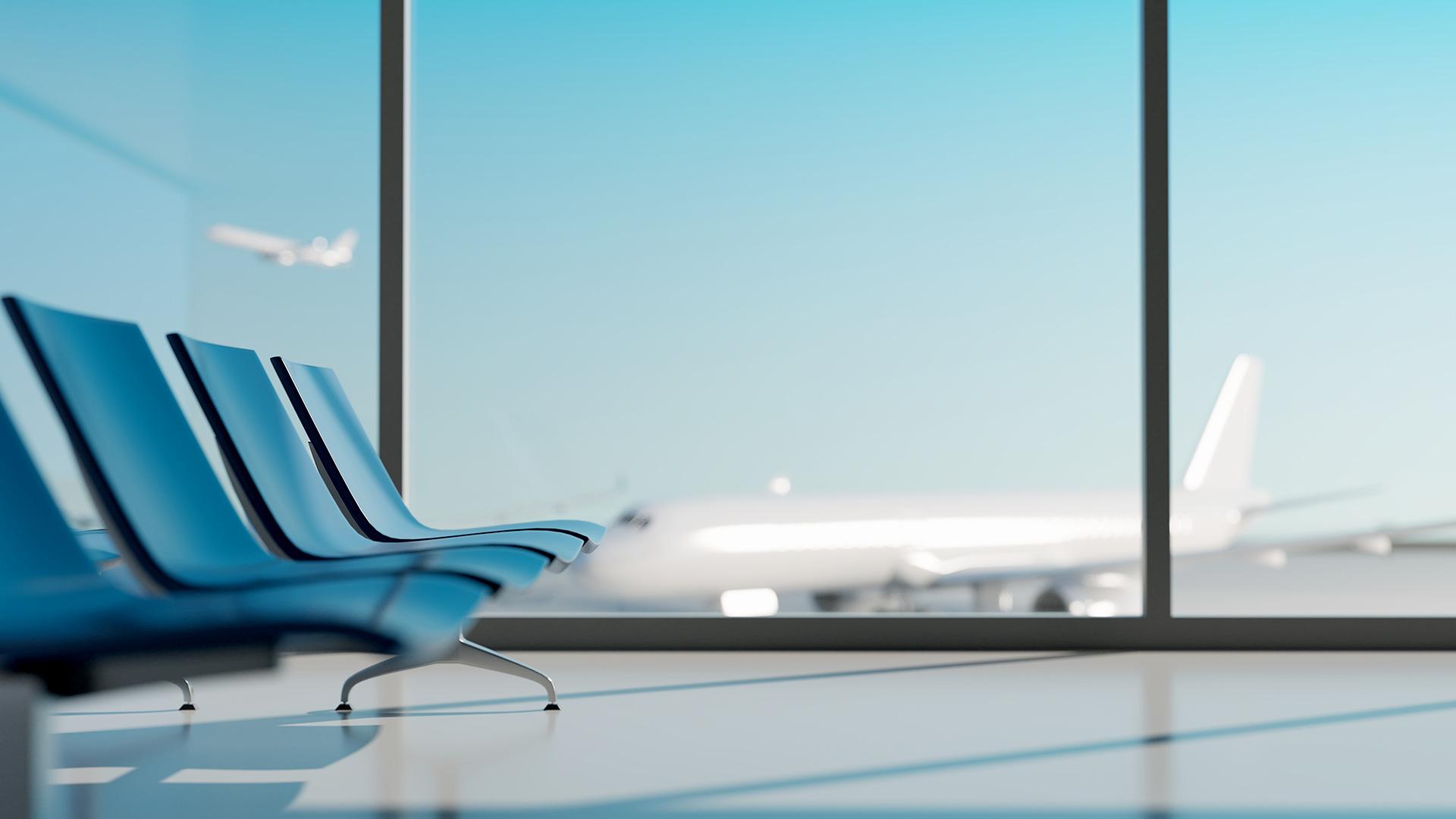 airplanes at landing at airport