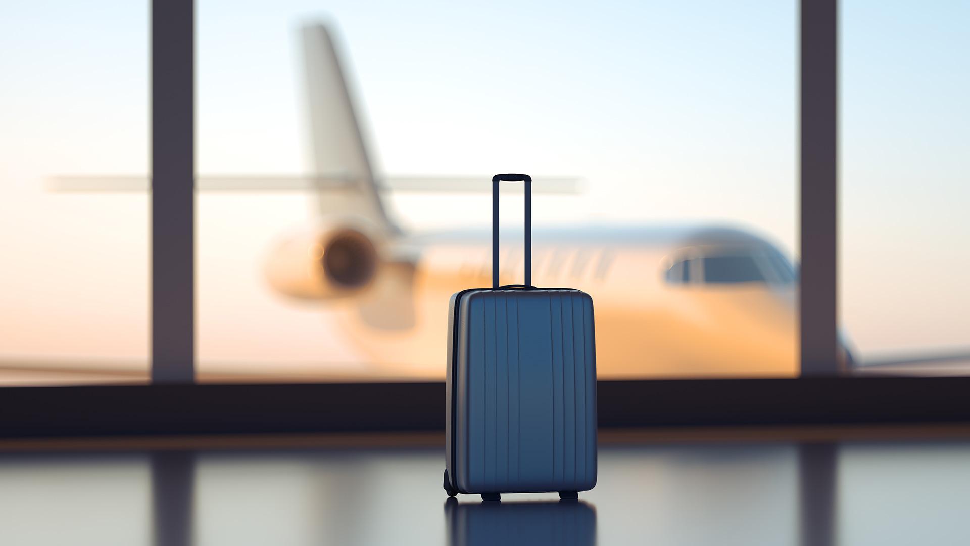 luggage bag at airport