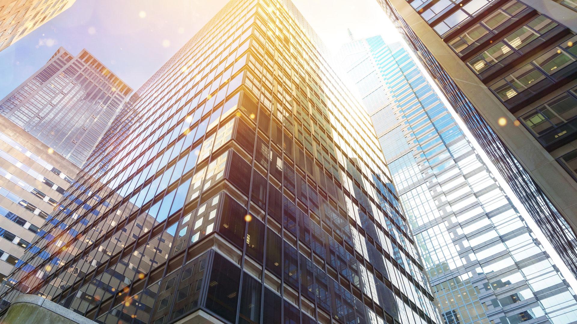 buildings looking up