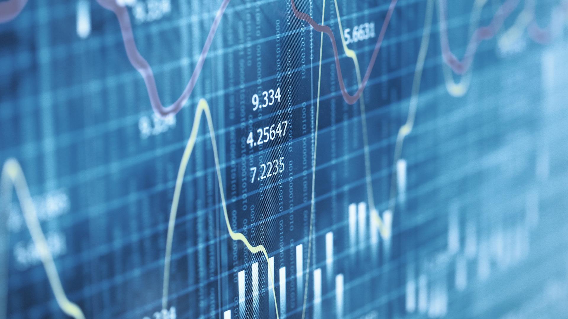 Graphique de données boursières