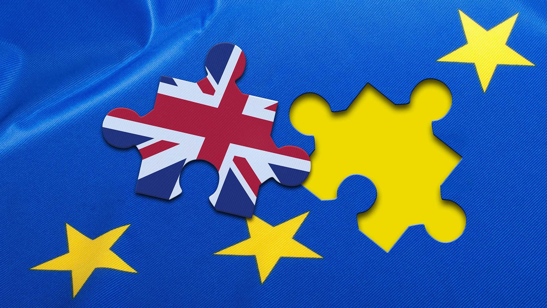 UK flag puzzle piece