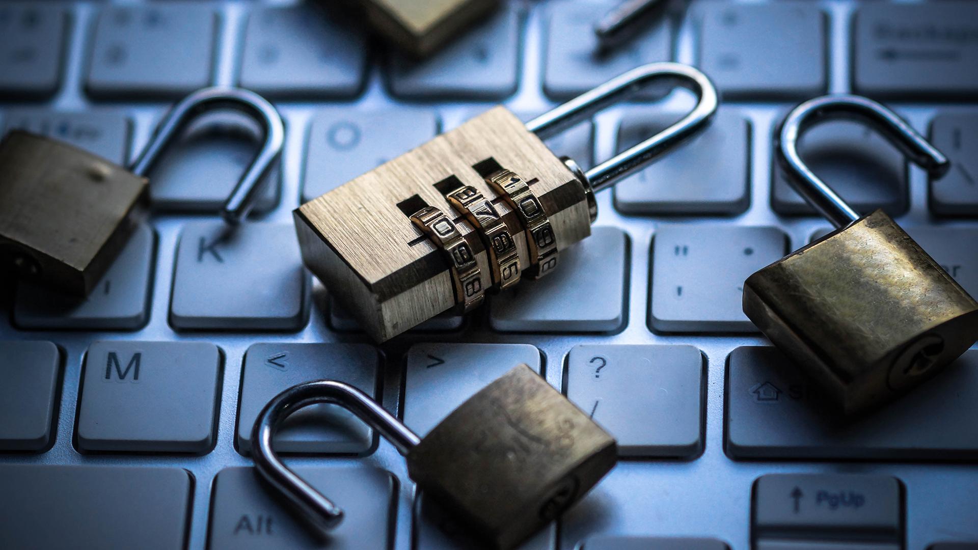 locks on keyboard