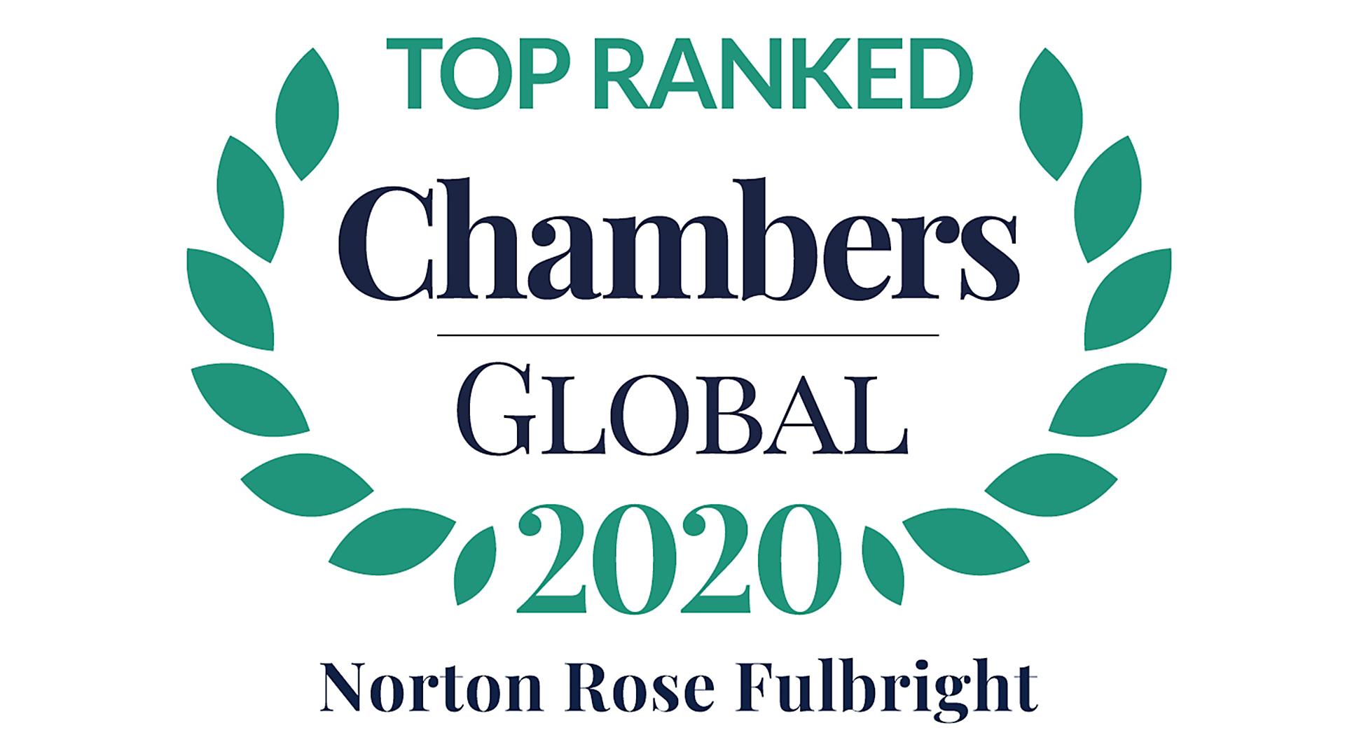Top ranked Chambers Global 2020