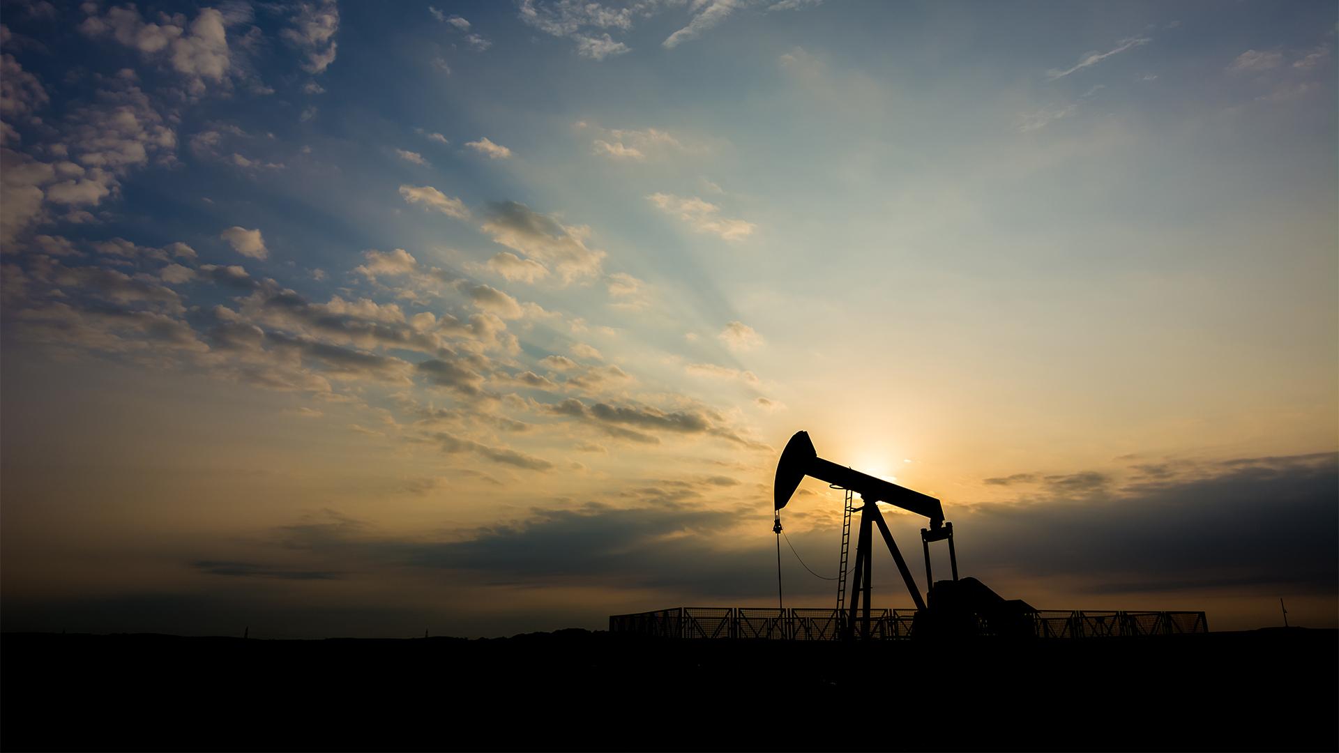 Crude oil pump in oilfield