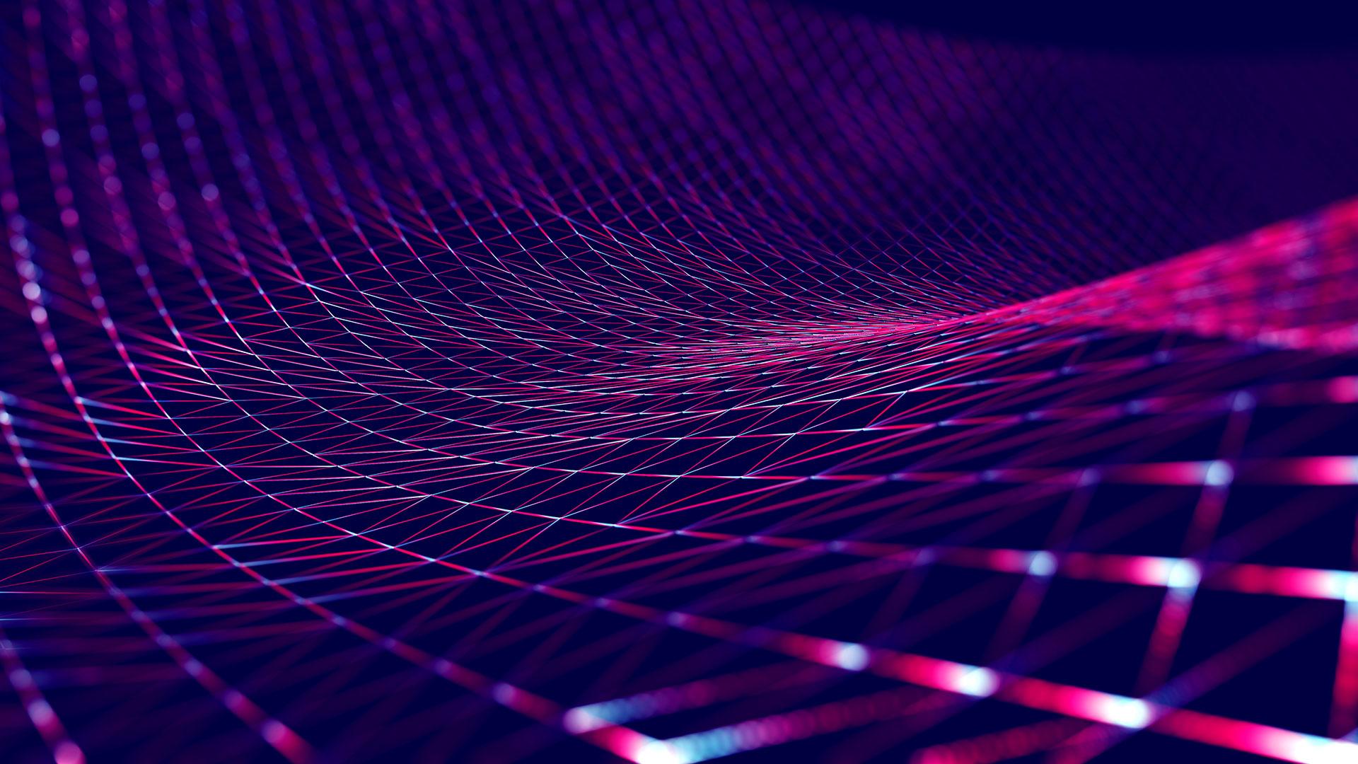 Brightly colored digital mesh design