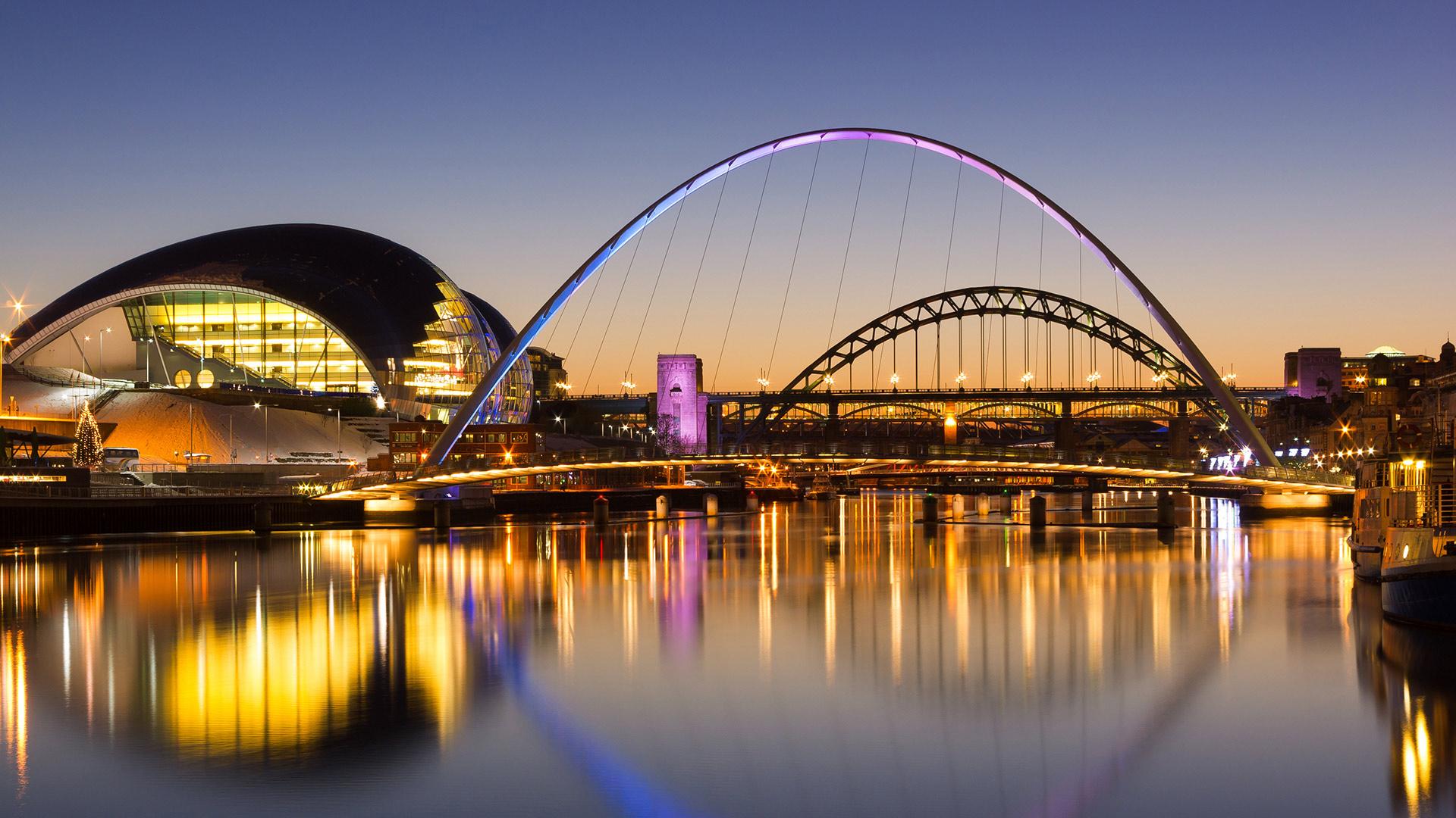 Bridges crossing over water
