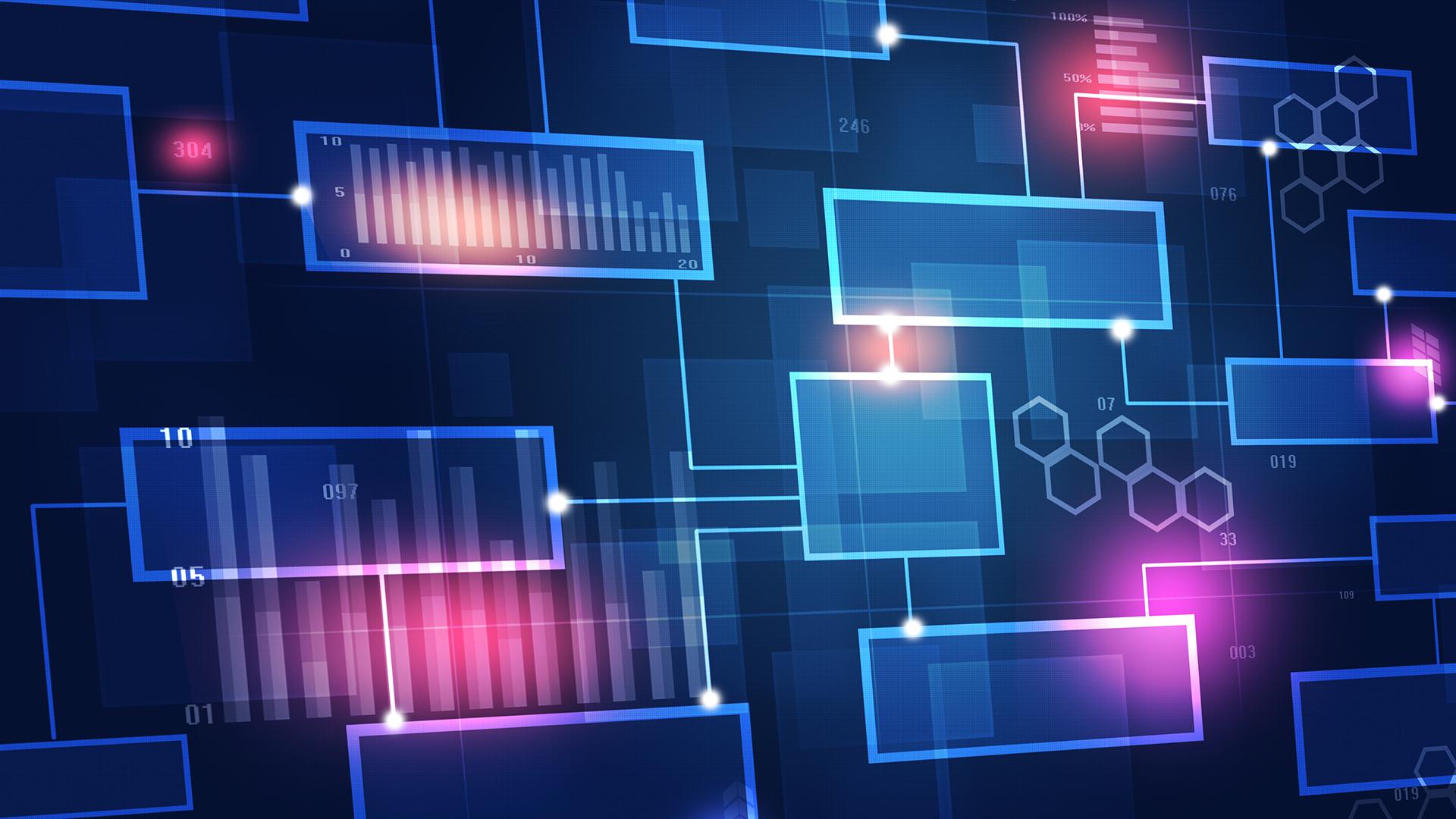 Digital blocks connected