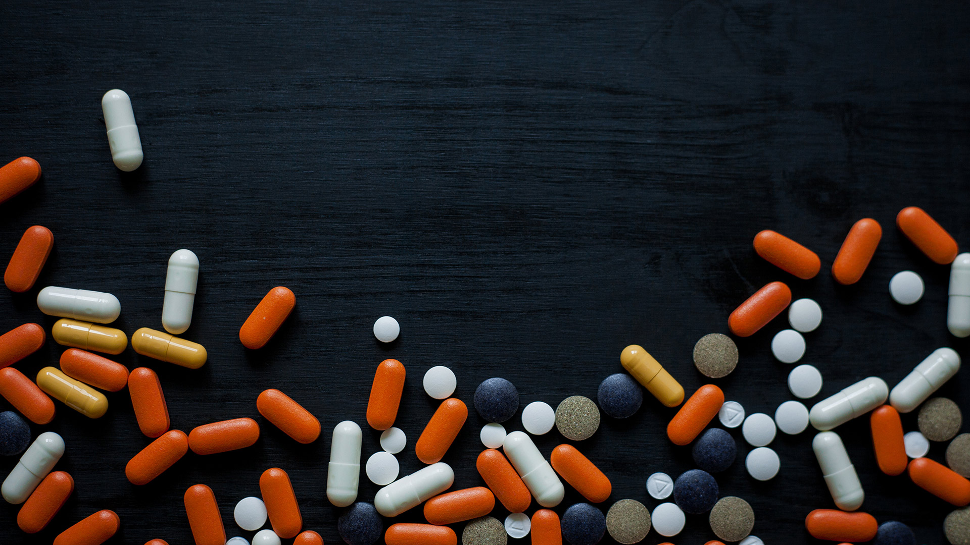 Pharmaceutical drugs on a table