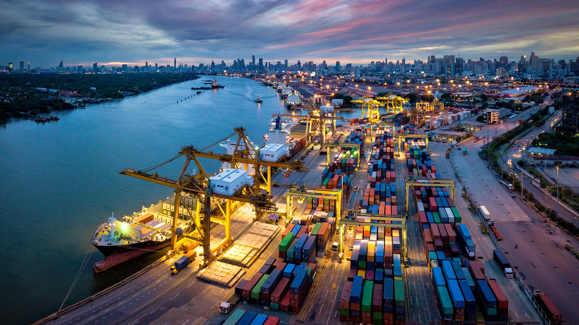 Shipping channel and containers