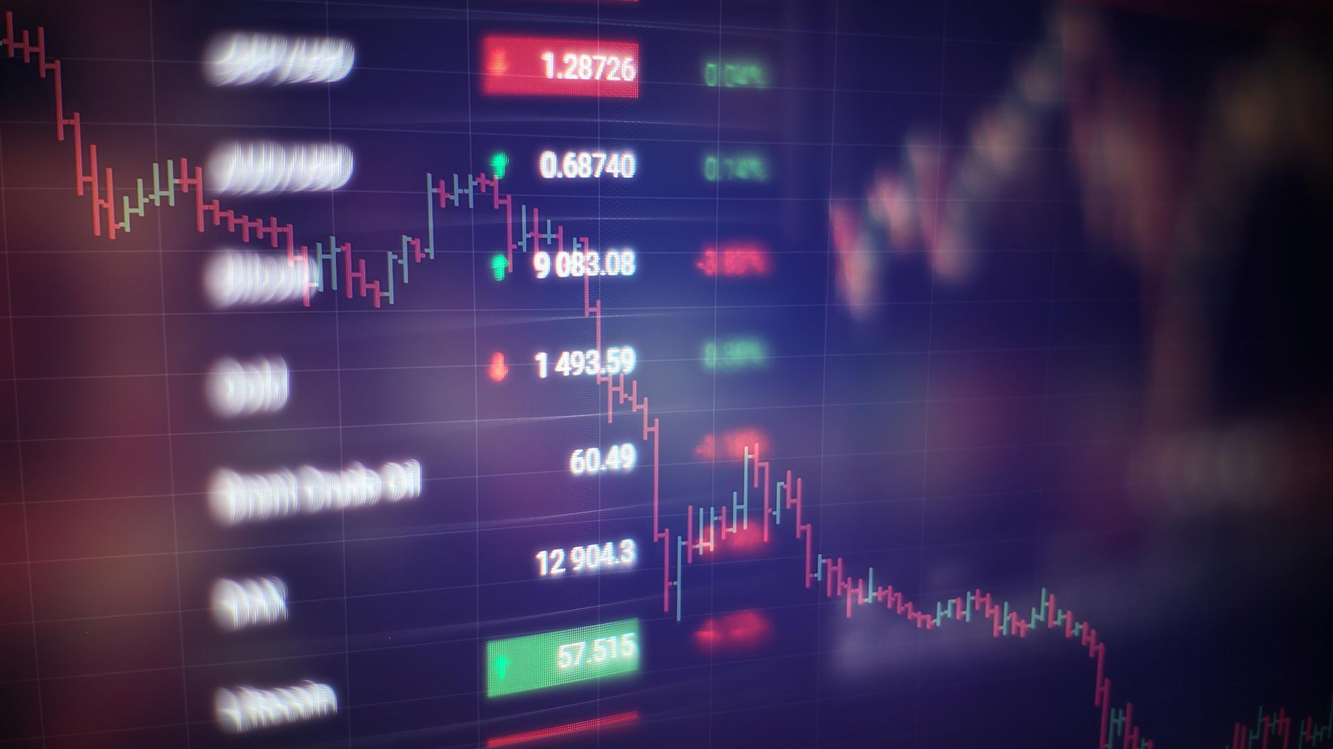 Financial charts and numbers